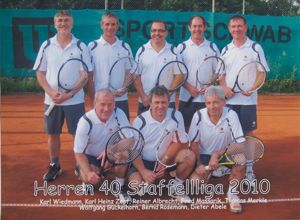 Herren 40 Meister der Staffelliga 2010