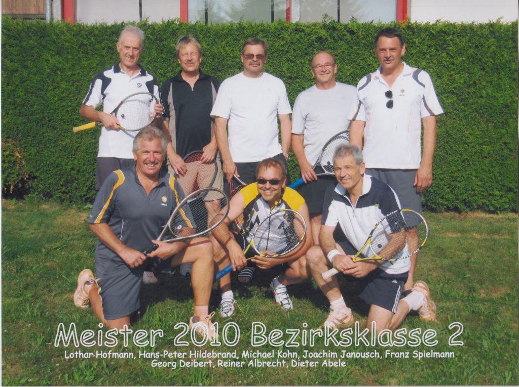 Herren 50 Meister der Bezirksklasse 2 2010