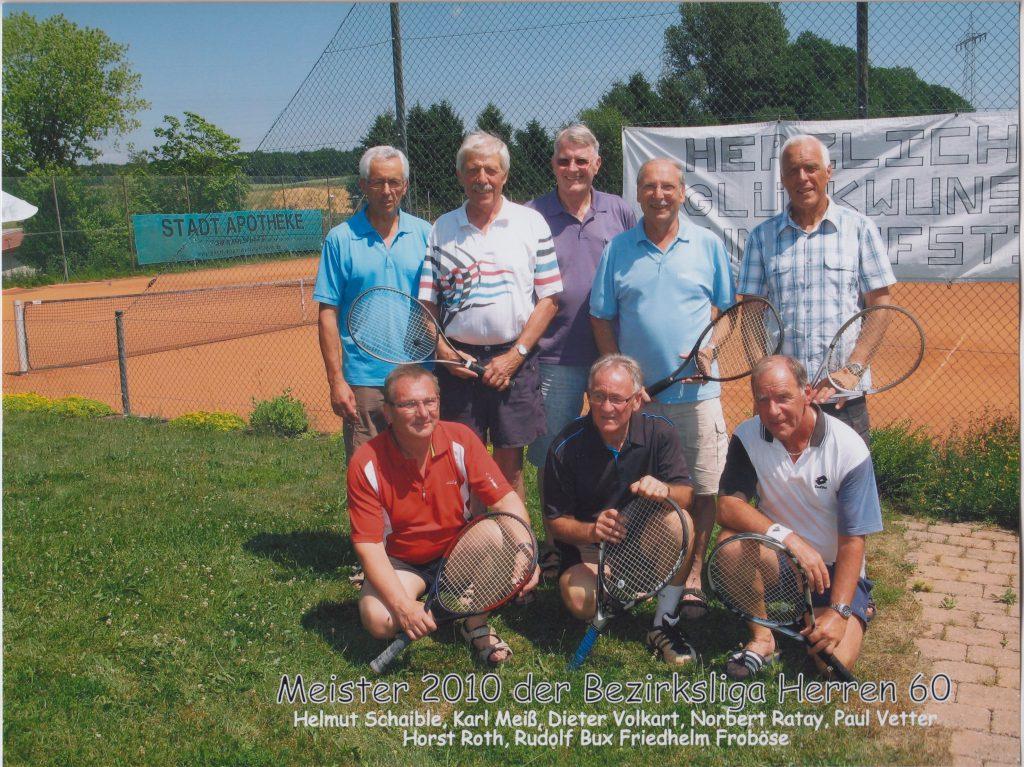 Herren 60 Meister der Bezirksliga 2010